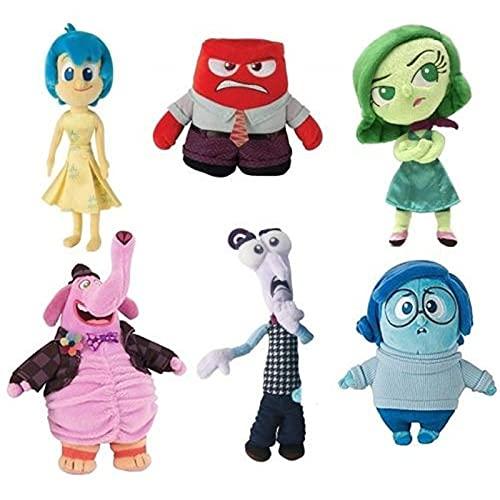 Inside Out Plush Soft Toy Giocattolo GIOVOLA Feam Rusht Rager Sadness Laurea Regalo da 17 a 20 cm