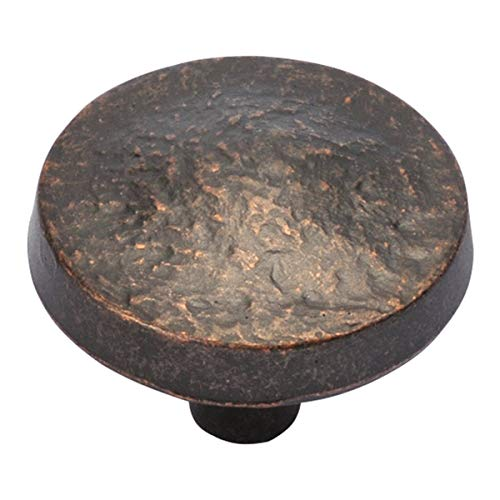 Bedrock Knob (3 Pack) - Color Dark Antique Copper P3564-DAC Hickory Hardware 1-1/4' Width Casual Kitchen Drawer Pull Cabinet Door Top Decor Bundle Gold Ridge Living Interior Design Guide