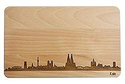 <p>Brotzeitbrett Köln Skyline</p>