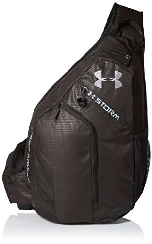 Under Armour Compel Sling Backpack, Black (001)/Steel, One Size Fits All