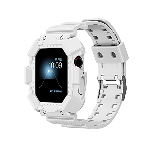 CHENPENG Compatible con Apple Watch 1/2/3/4/5/6 / SE Mujeres Transparente TPU Correa Deportiva Correas de Repuesto con Estuche Protector de Parachoques Resistente,F,38MM