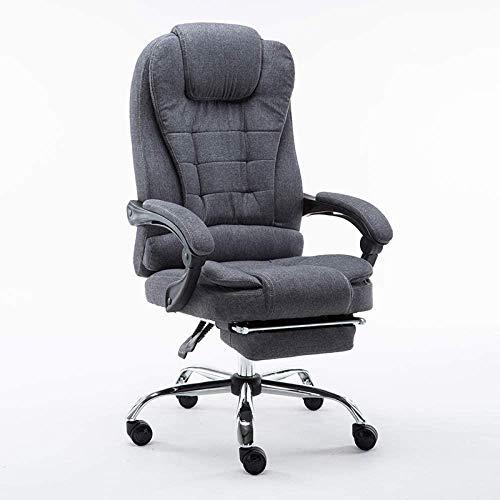 HOLPPO-Desk Silla de Oficina Equipo reclinable Silla giratoria Silla de la elevación del Asiento Estudio, Negro (Color : Gray)