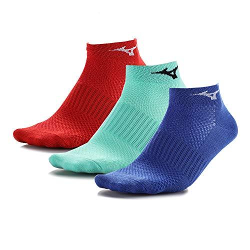 Mizuno Training Mid 3P Accesorios de Entrenamiento, Adultos Unisex, Multicolor (D Blue/Ice Green/High Risk Red), M