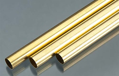 K&S Precision Metals 9117 Round Brass Tube, 17/32