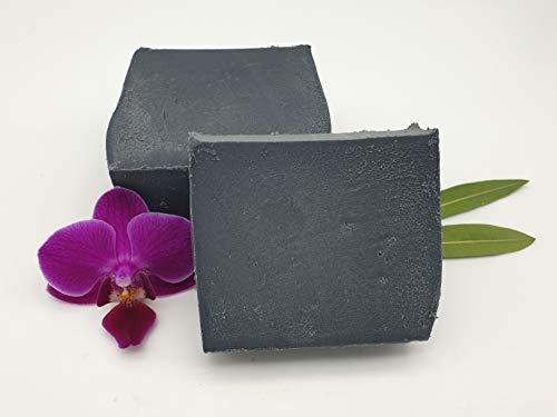 Aktivkohle Sole Seife, schwarze Seife, unreine Haut, vegan, ohne Palmöl, handgemachte Naturseife, Gesichtsseife von kleine Auszeit Manufaktur