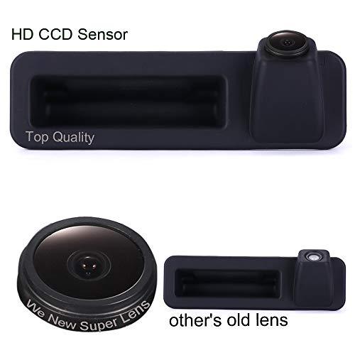 Griffleiste Auto Rückfahrkamera 1280 * 720 Pixel 1000TV Linien HD Objektiv Wasserdicht 170 ° Super Weitwinkel Rückfahrkamera für BMW 1/2/3/4/5/7/M Series X1 X3 X4 X5 X6 F18 F35 F45 F46 F48 F80 520Li