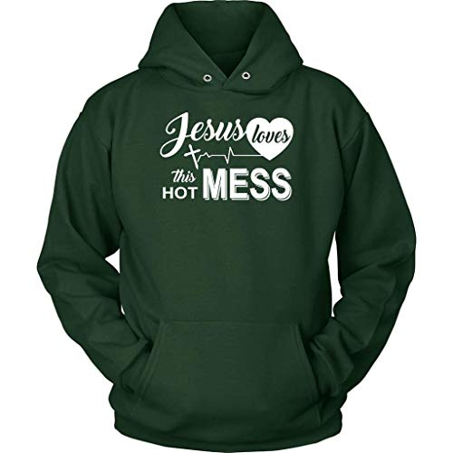 Situen Je.sus Loves This Hot Mess Hoodie | Je.sus Hoodies - Front Print Hoodie for Men and Woman.