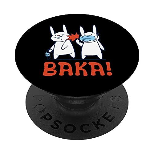 Mascarilla facial Baka Rabbit Slap - Baka Japanese PopSockets PopGrip Intercambiable