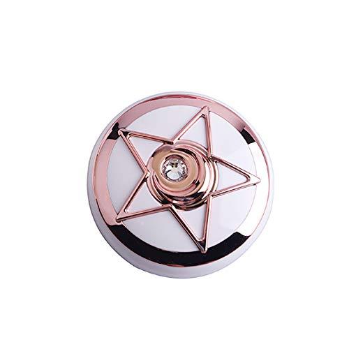 Beito 1 STÜCK Kontaktlinsenbehälter Stern Diamant Design Reise Kontaktlinsenhalter Augenpflege Kit Mit Spiegel Kontaktlinse Aufbewahrungsbox(Rosengold)