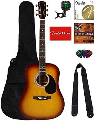Fender Squier Acoustic Guitar Bundles with Fender Play