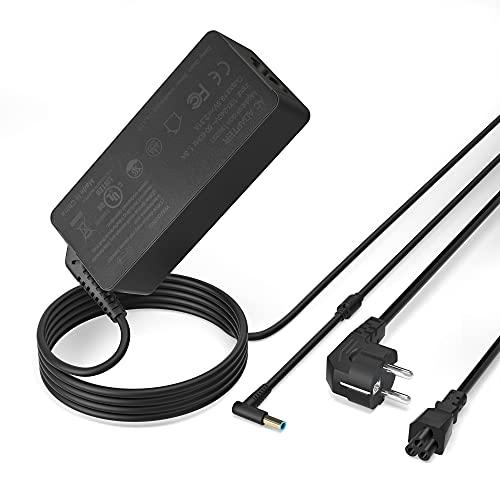 Cargador para Portátil HP 45W, Adaptador AC/Suministro de Cable de alimentación para HP Stream 11 13 14;Pavilion 11 13 15;Split 13;HP 719309-001 741727-001 HSTNN-CA40; 19.5V 2.31A;4.5mm*3mm