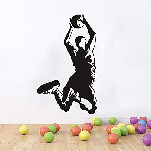 Tianpengyuanshuai Sport Basketball wandtattoo abnehmbare Junge Kind Schlafzimmer Dekoration Vinyl Aufkleber Kunst Carving abziehbild 42X70 cm