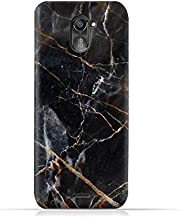 infinix Hot 4 Pro X556 TPU Silicone Protective Case with Dark Grey Marble Texture