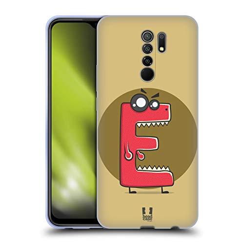 Head Case Designs Maquinilla de Afeitar E Monstruo del Alfabeto Carcasa de Gel de Silicona Compatible con Xiaomi Redmi 9