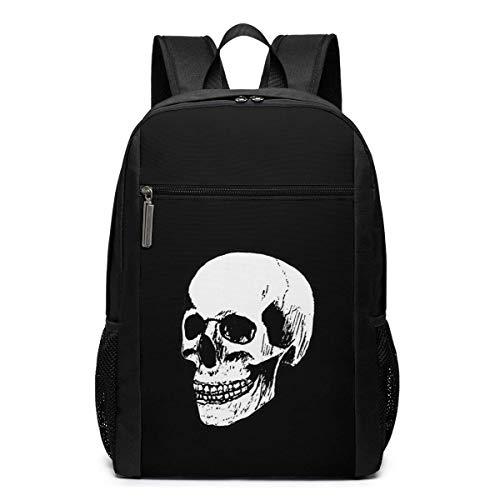 ZYWL Mochila para computadora portátil Skull, Mochilas de Viaje, Mochila Escolar para Mujeres y Hombres de 17 Pulgadas
