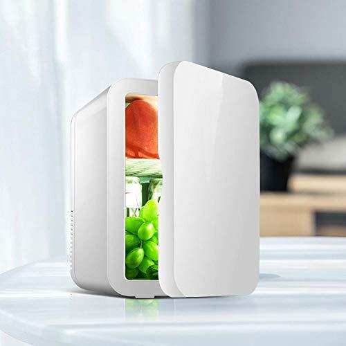 Mini tragbarer Kühlschrank,8L kompakt thermoelektrisch Cool Hot Dual Use Kühler & Wärmer Mini Kühlschrank für Schlafzimmer,Kosmetik,Medikamente,Muttermilch,Zuhause,Wohnheim,Auto,Reisen (Weiß)(2#)