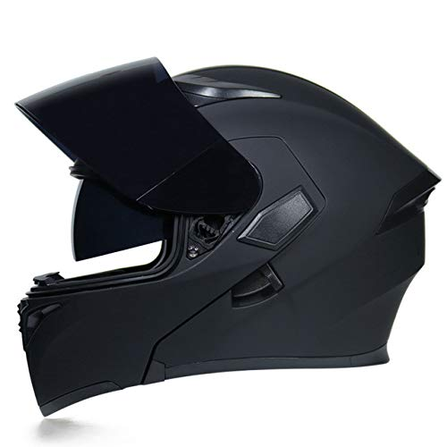 IAMZHL Motorradhelm hochklappen Motorradhelm Motorräder-a75-L