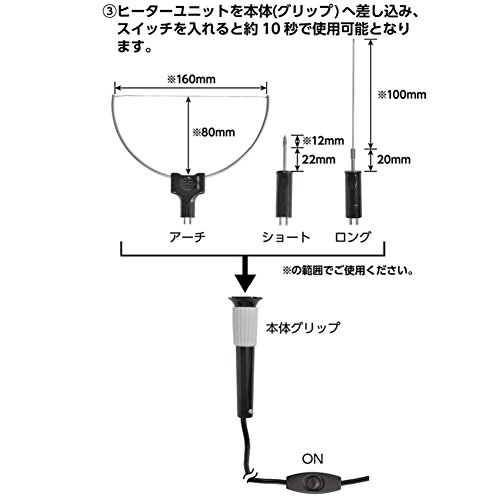 リリーフ(RELIEF)発泡スチロールカッターRHC-5V87010