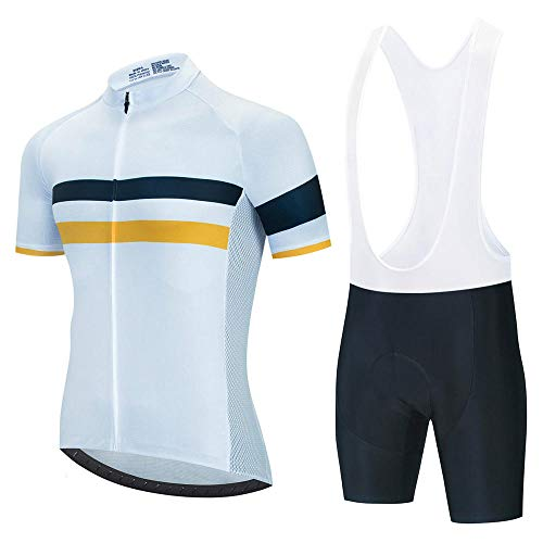 HXTSWGS Ropa Ciclismo Verano para Hombre Ciclismo Maillot,Summer Breathable Cycling Jersey Set Team Racing Jersey Sport Bicycle Shirt Pro Men Cycling Clothing-A19_L