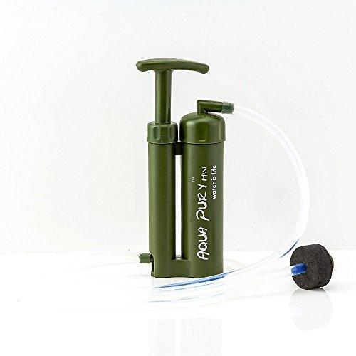 Liebdy Aqua Pury Mini 2.0 unser Kleinster Outdoor, Survival und Camping Wasserfilter für Wasseraufbereitung, ideal für Krisenvorsorge und Notfall