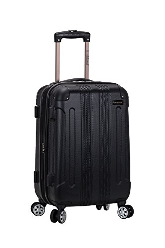 Rockland London Hardside Spinner Wheel Luggage, Black, Carry-On 20-Inch