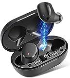 Bluetooth Kopfhörer, Moosen Kabellose Kopfhörer IPX7 Wasserdichter TWS Wireless Ohrhörer 5.0 mit...
