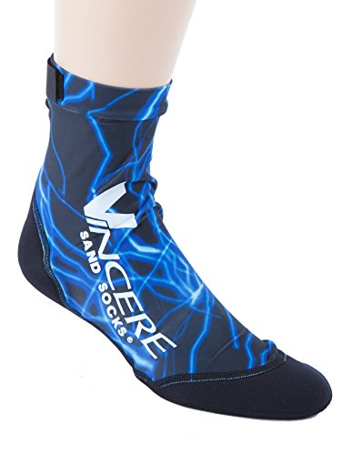 Vincere Sand Socks Beach Volleyball, Soccer, Snorkeling Diving Blue Lightning S