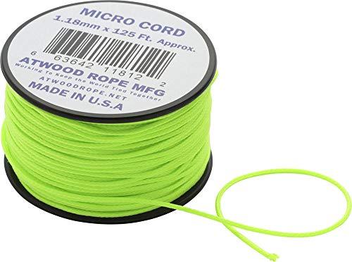 アットウッドロープ マイクロコード ネオングリーン 44007