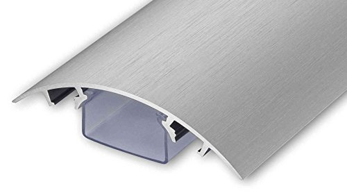 TV Design Aluminium Kabelkanal Edelstahl gebürstet Look in verschiedenen Längen von ALUNOVO (Länge: 100cm)