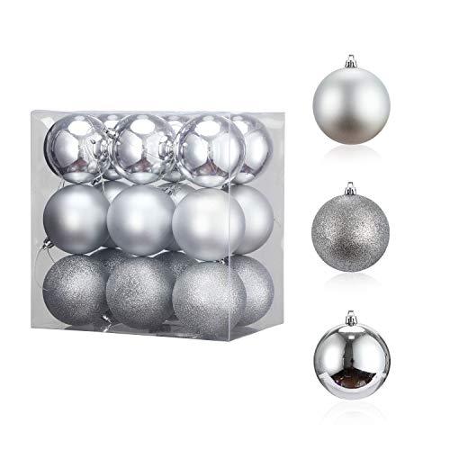 LessMo Christmas Balls Ornaments, 18pcs Infrangibile Decorazioni Natalizie Albero Balls, Hanging Balls for Holiday Wedding Party Decoration