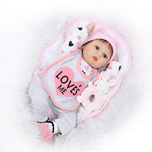Doll Silikon Real Touch Baby lebensechte Reborn Puppen realistische Neugeborenes Baby Fauay,C