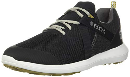 FootJoy Men's Flex Golf Shoes, Black, 7 M US