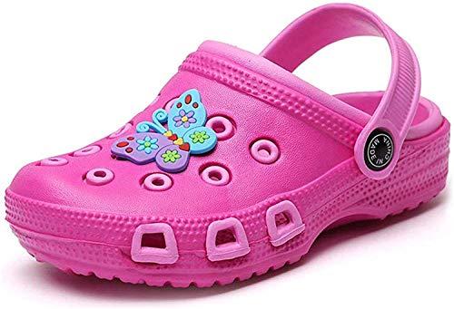 Zoccoli per Bambini Scarpe Sandali Ragazzi Ragazze Ciabatte da Giardino da Spiaggia Muli Scarpe da Piscina Estate Unisex,509 Pink 27