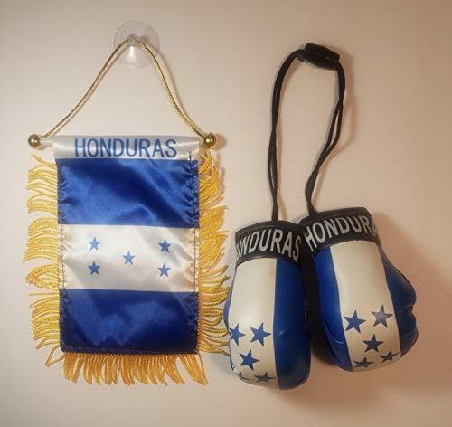 Rainbow Trading Honduras Flagge und Mini-Boxhandschuhe Combo Auto Rückspiegel Büro Dekor