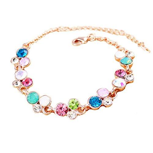 Bijoux Bracelet en or rose à la main Améthyste Bracelet Bijoux Fashion en forme