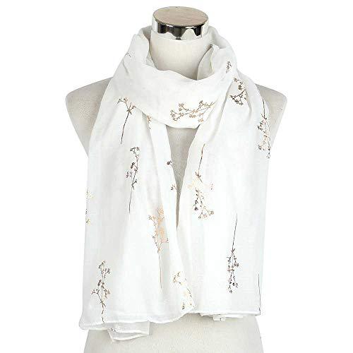 VIGCK Mode Herfst Winter Zachte Lange Sjaal Vrouwen Dame Glanzende Folie Goud Bloem Vrouwelijke Glitter Zwart Rood Wrap Sjaal Stal Scraves