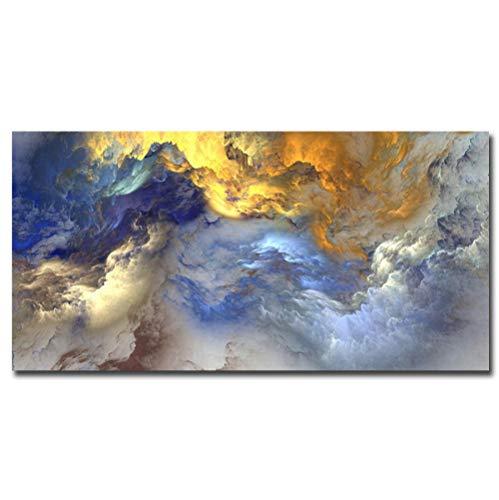 Jwqing Foto afdruk linnen doek schilderij abstracte muur decoratie afbeeldingen kunst decoratie kunst (60x120 cm geen lijst)