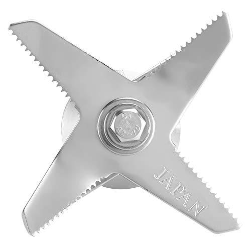 Blade de la licuadora de acero inoxidable, 7.6x7.3x5.3cm Hecho de grado alimenticio de acero inoxidable para 5200 series / estándares estándar 64oz y contenedores de 32oz / estándar comercial 64oz