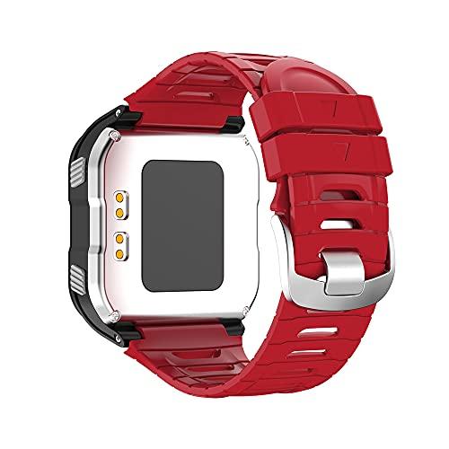 KINOEHOO Cinturino Compatibile con Garmin Forerunner 920XT Cinturini di Ricambio in Silicone.(rosso)