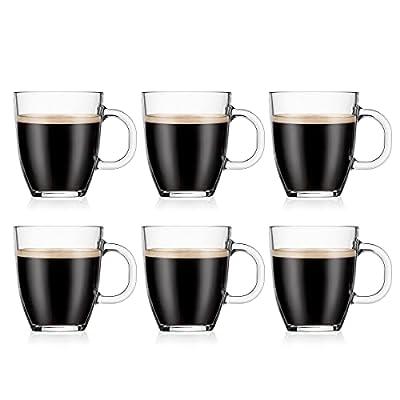 Bodum Bistro Coffee Mug, 12 Ounce (6-Pack), Clear