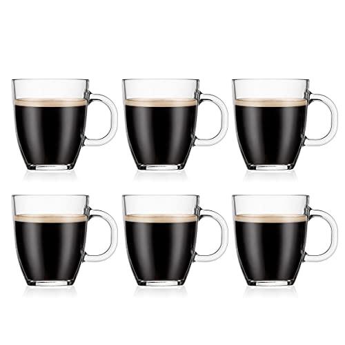 Bodum - 11239-10-2 - Bistro - Set de 6 Tasses à Café - Verre Trempé, 0,30 l - Transparent