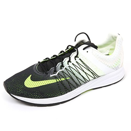 Nike Air Zoom Streak 5 CP, Zapatillas de Running Unisex Adulto, Negro/Blanco/Verde (Black/White-Volt), 37 1/2 EU