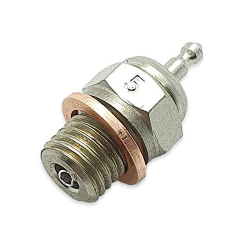 TCA Racing Candela Standard N° 5 - Glow Plug - per Motori A Scoppio - Scala 1/8 - 1/10 - AUTOMODELLI