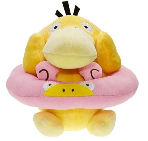 JIAL Schönes Spielzeug für Kinder Rettungsring Psyduck süß gefüllte weiche Kissen Plüschtier 18cm Chongxiang