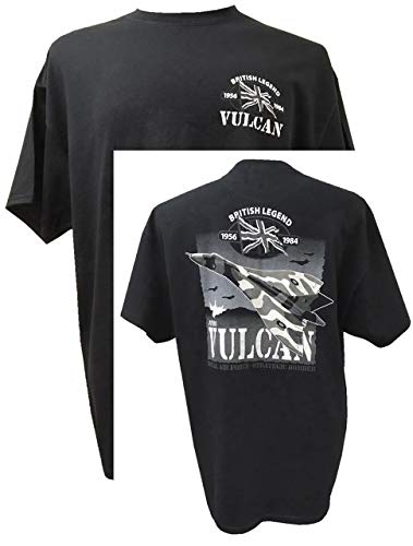 The Wooden Model Company Ltd Avro Vulcan Heavy Bomber - Brits vliegtuig/Black Action T-shirt ontwerp