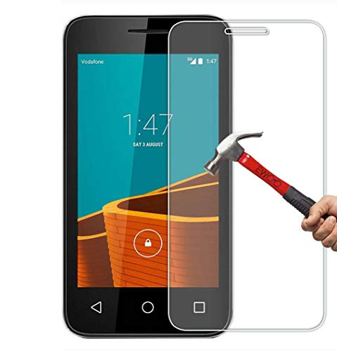 2 Pack - Vodafone Smart First 6 Tempered Glass, FoneExpert Tempered Glass Crystal Clear LCD Screen Protector Guard & Polishing Cloth For Vodafone Smart First 6