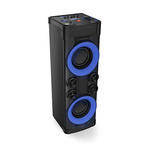 Energy Sistem Party 6 - Altavoz DJ con Bluetooth 240 W, Sistema de Sonido 2.1 (Energy Music Power 600, Función Karaoke, Luces, Pantalla Led, USB, Micrófono, Panel de Control con Ecualizador)