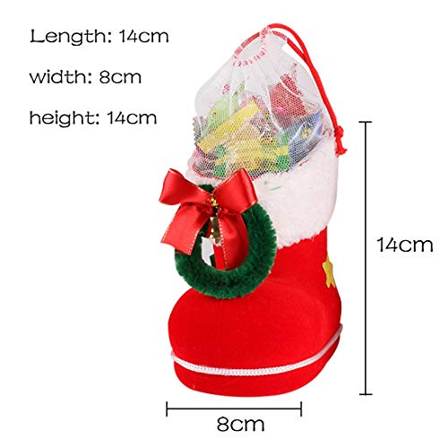 Luwu-Store 4 Größe Weihnachten Home Decor Santa Claus Boot Schuhe Strumpf Kinder Kind Süßigkeiten Geschenk Halter Taschen Weihnachtsbaum Dekoration