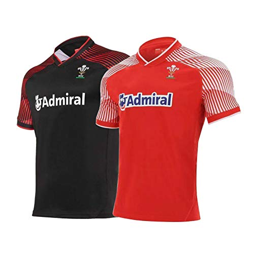 Camiseta De Rugby para Hombre, 2021 La Última Camiseta De Rugby Gales Gales Local/Visitante, Uniforme De Rugby Unisex, Camiseta De Polo De Entrenamiento De Fútbol redHome-S