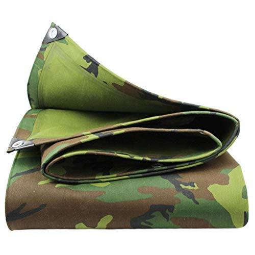 Heavy Duty Tarpaulin Camo Tarps Heavy Duty Waterdicht | Ground Tent Trailer Cover | Groot dekzeil in meerdere maten | 19.4 oz/Sq 4.5M×4M